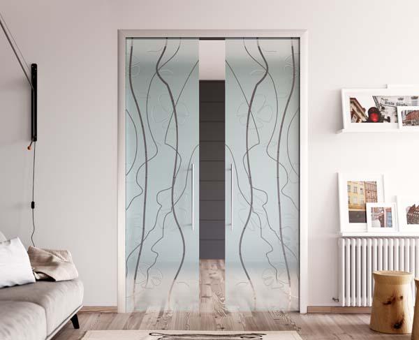Line Design Art With Mr E : Porte in vetro scorrevoli cristallo