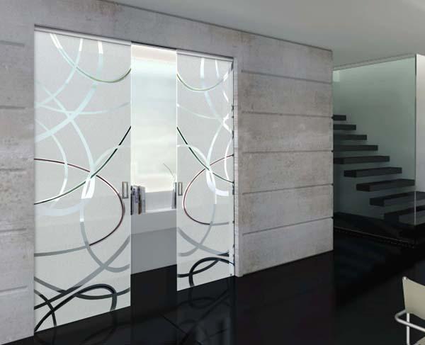 Porte in vetro porte scorrevoli porte in cristallo porte - Porte scorrevoli a vetri ...